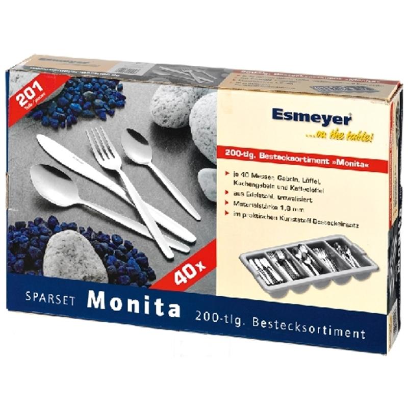 Besteck MONITA Set 201-tlg. (40 Pers.)