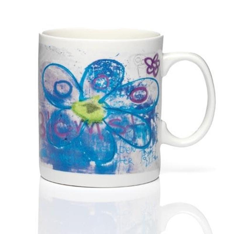 PAVA more flowers-blue Becher