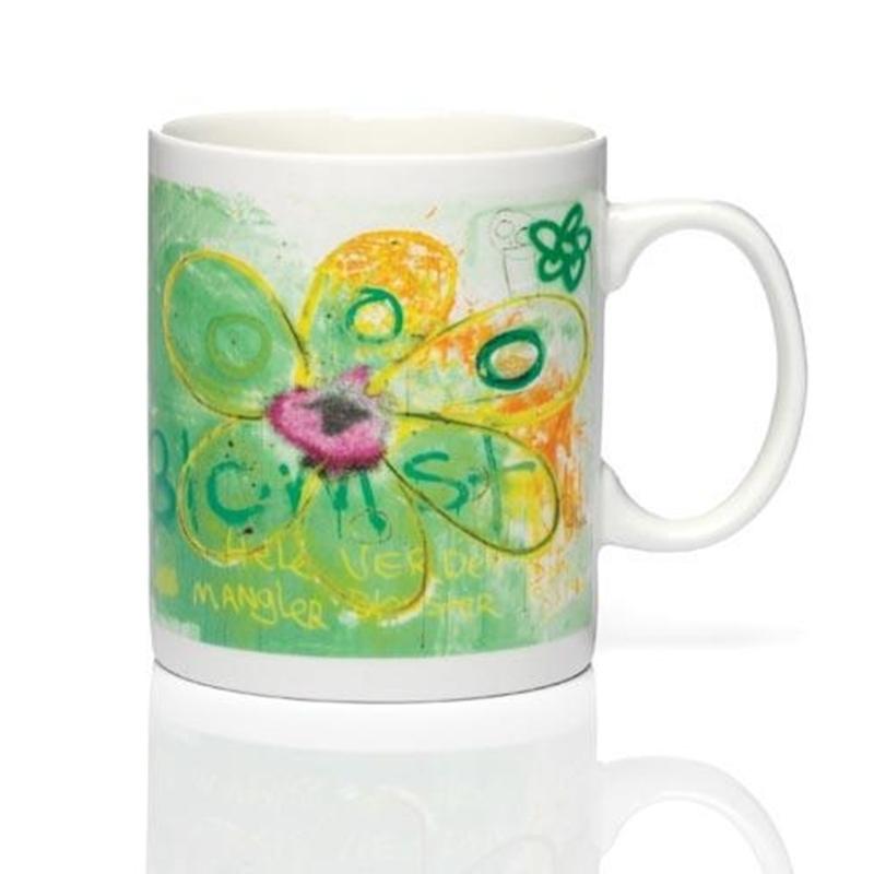 PAVA more flowers-green Becher