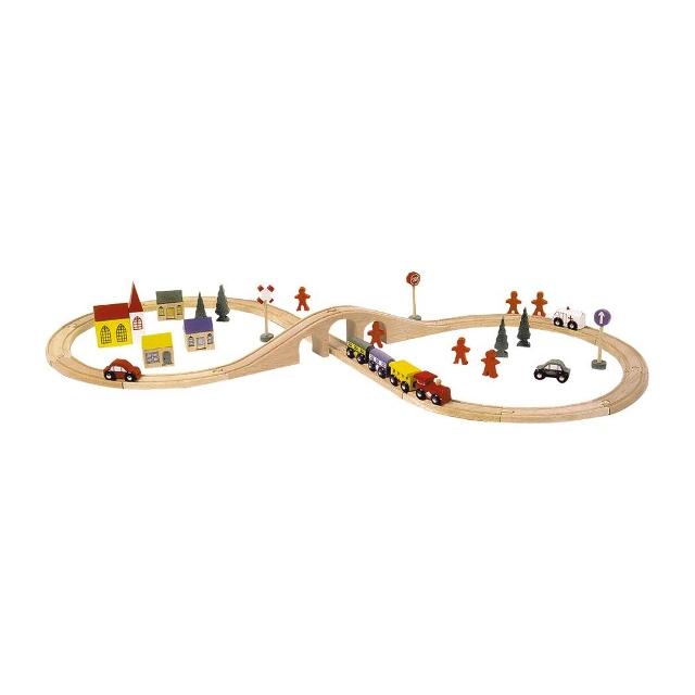 Holzeisenbahn Holzbahn STARTER ACHT 46tl