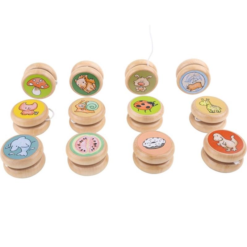 Jo-Jo, Yo-yo aus Holz, Set mit 4Stk.