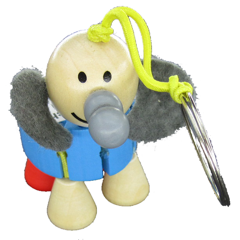 Schlüsselanhänger, Flexi Elefant,Blau