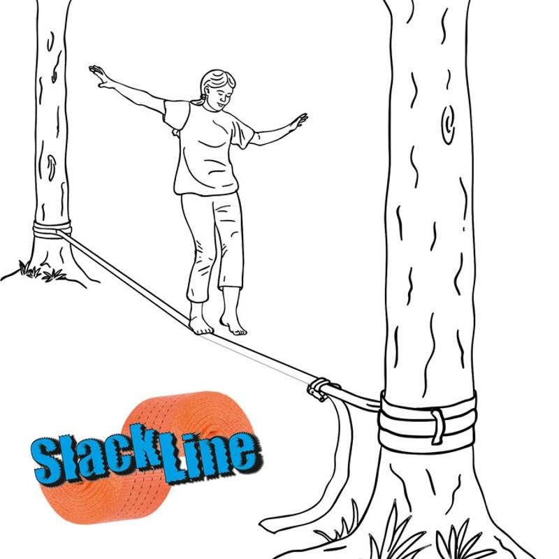 SlackLine, Seiltanz, Slack Line