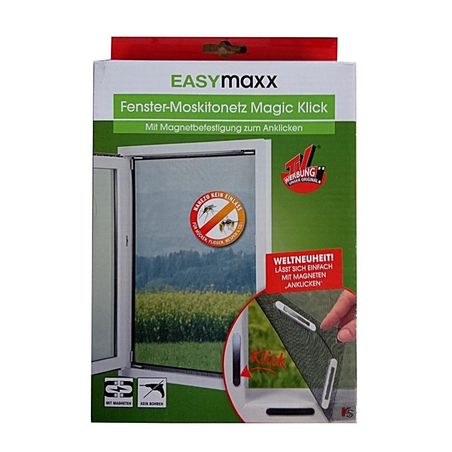 Easymaxx Fenster-Moskitonetz magnetisch