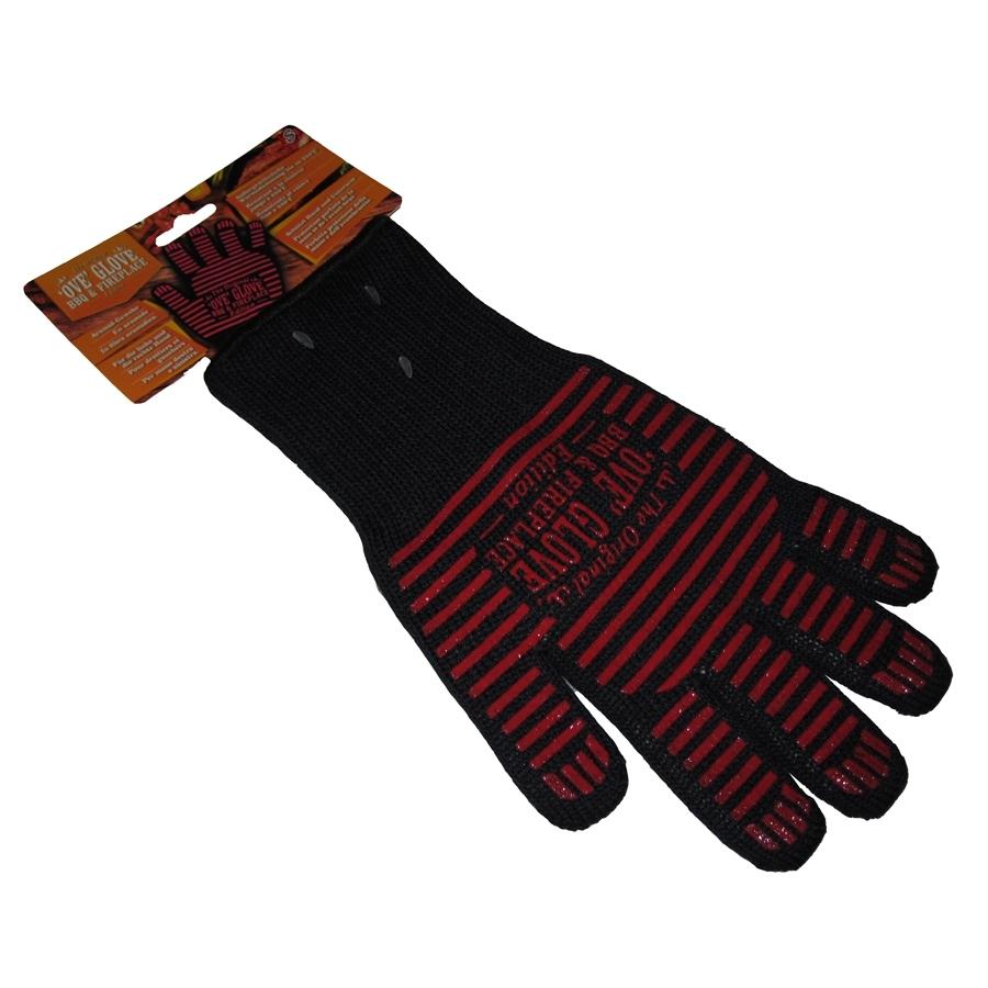 Aramid Finger-Grillhandschuh schwarz, 1x