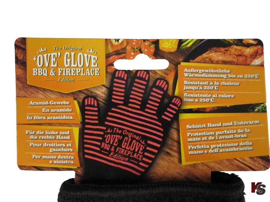 Aramid Finger-Ofenhandschuhe schwarz, 2x