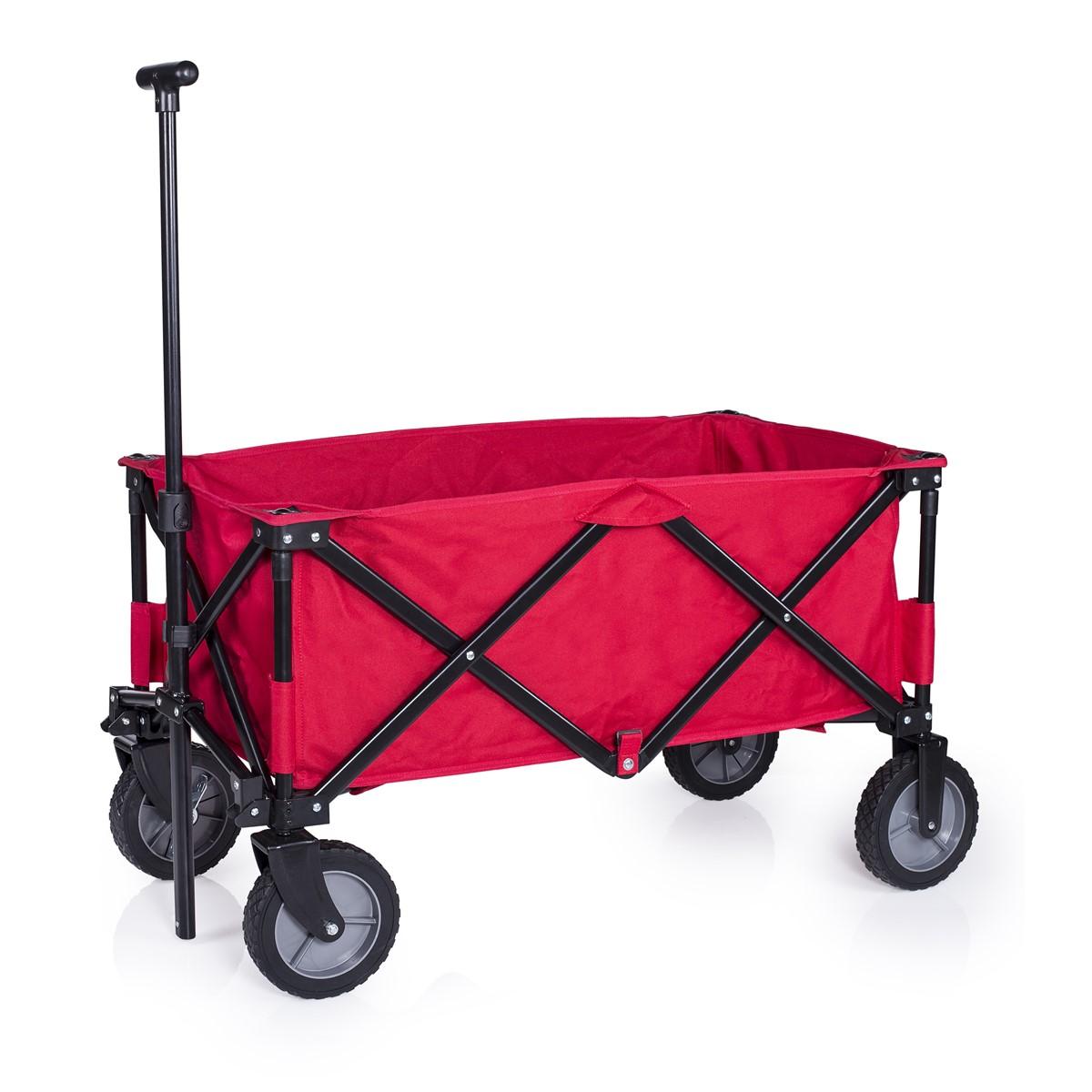 Picknickwagen Klappbar, mit Bremse, Rot