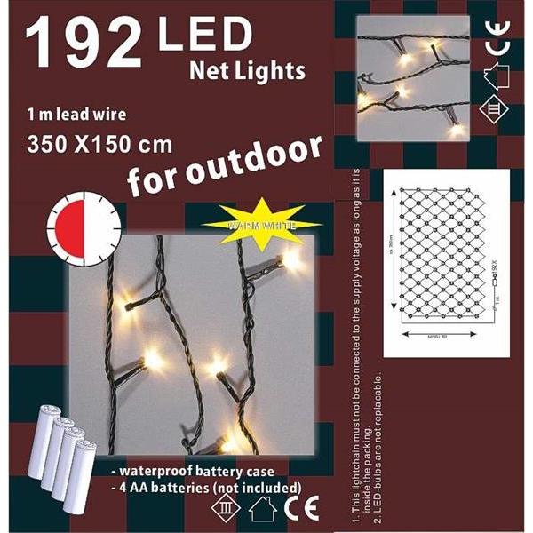 Leuchtvorhang 3.5x1.5m, 192LED,mit Timer