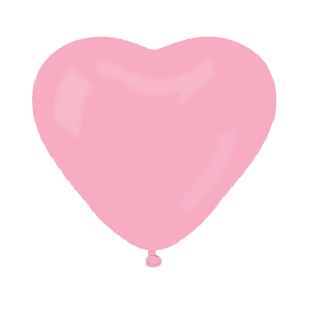 Herzluftballons PINK, B40cm, 20Stk.