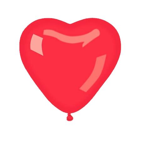 Herzluftballons Rot, B40cm, 20Stk