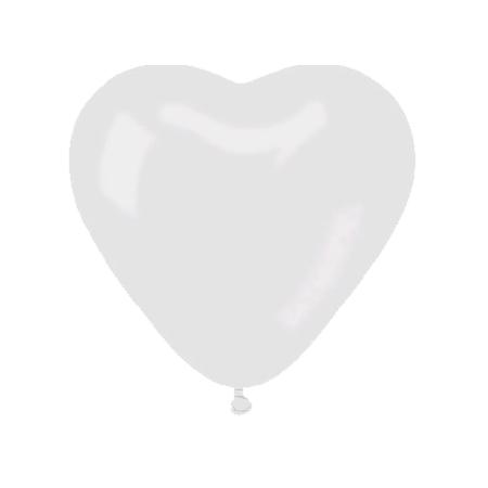 Herzluftballons Weiss, B40cm, 20Stk.